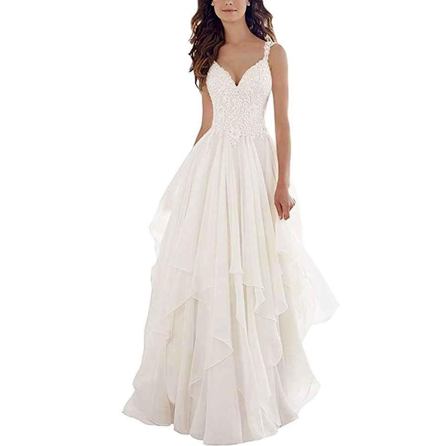Wedding Dresses Jerald Norton Ltd Sexy V Neck Lace Chiffon