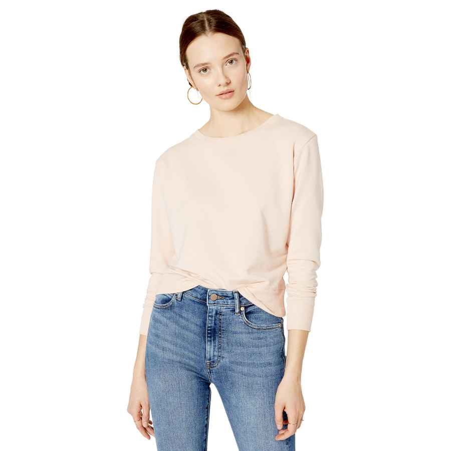 Pullower The Drop Women's Annabelle Long-Sleeve Crew Neck Supersoft Stretch