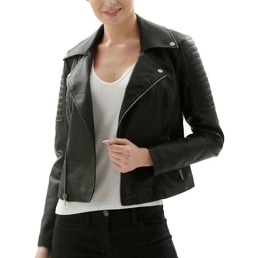 Fahsyee Women's Faux Leather Jackets