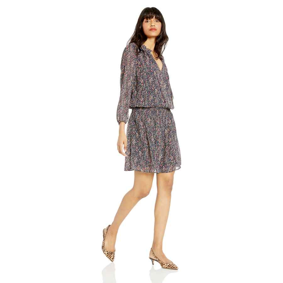 Womens Casual Dresses J.Crew Mercantile Women's Long-Sleeve Smocked Tie-Front Dress