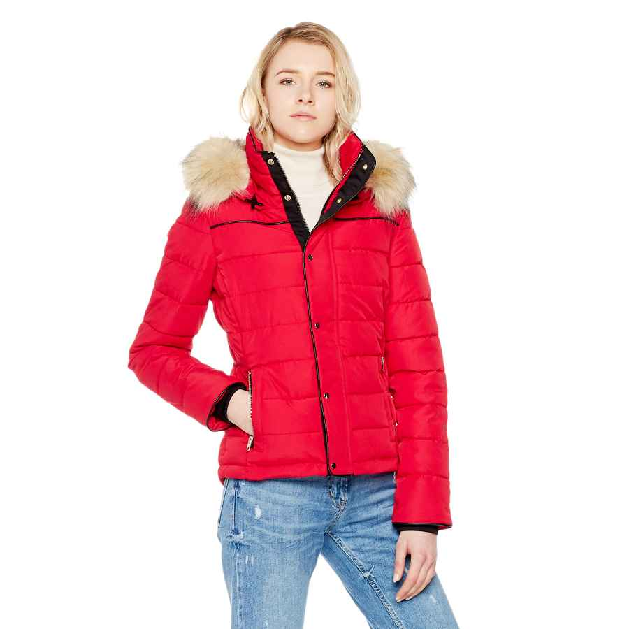 Royal Matrix Womens Short Quilted Warm Winter Water-Resistant Jacket Coat With Faux Fur
