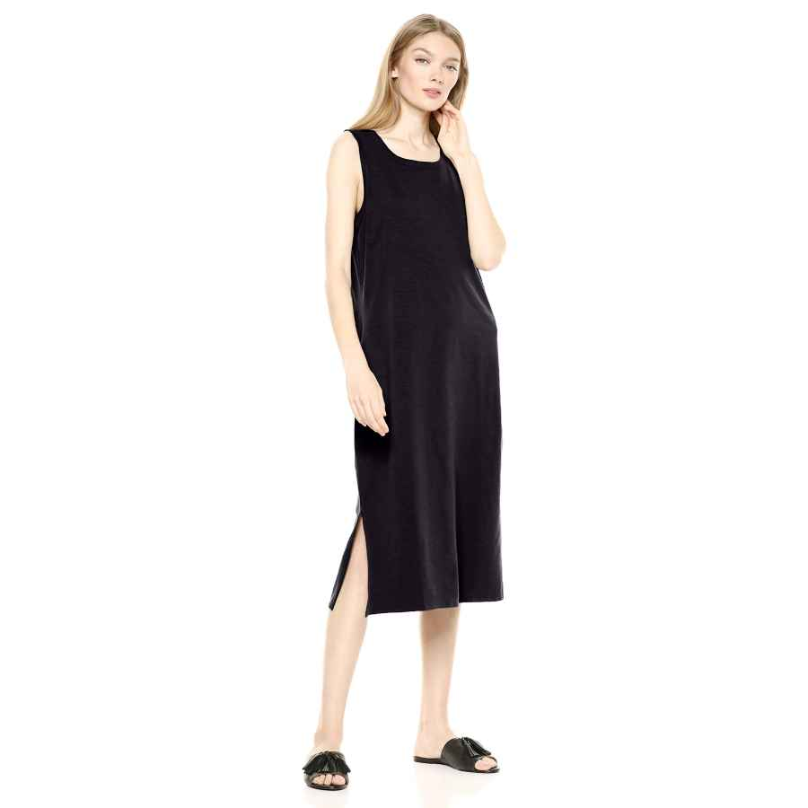 Womens Casual Dresses Amazon Brand - Daily Ritual Women's Lived-In Cotton Muscle-Sleeve Midi Dress