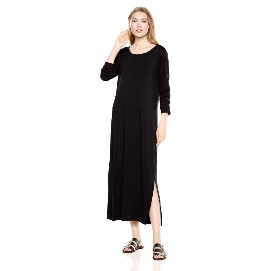 Womens Casual Dresses Amazon Brand - Daily Ritual Women's Jersey Long-Sleeve Maxi Dress