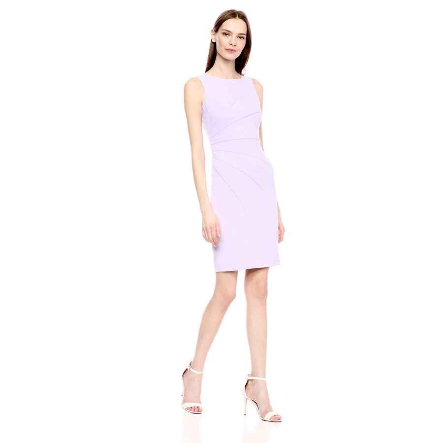 Womens Casual Dresses Calvin Klein Women's Sleeveless Sheath Dress With Starburst Detail