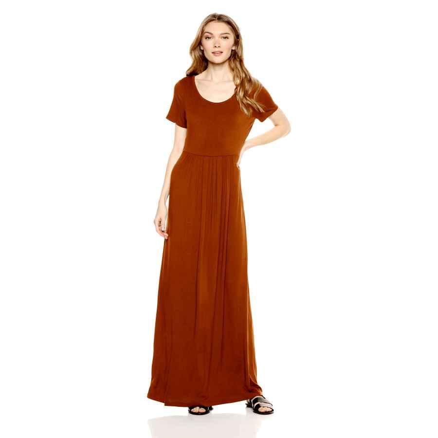 Womens Casual Dresses Amazon Brand - Daily Ritual Women's Jersey Short-Sleeve Empire-Waist Maxi Dress