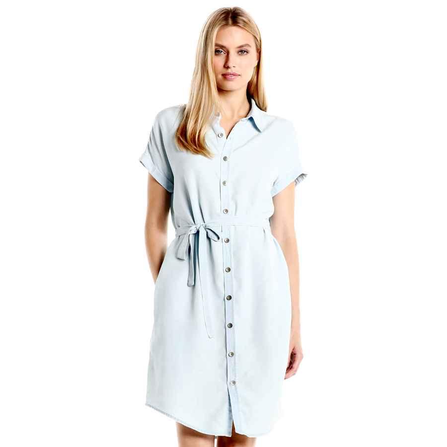 Womens Casual Dresses Amazon Brand - Daily Ritual Women's Tencel Short-Sleeve Shirt Dress