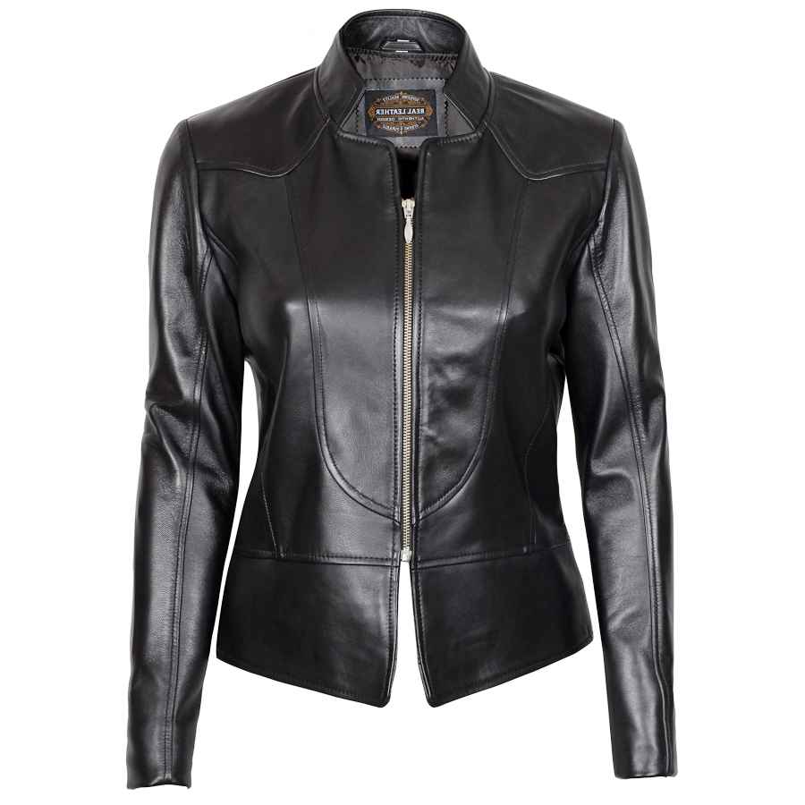 Brown Leather Jacket Women - Real Lambskin Black Womens Leather Jacket