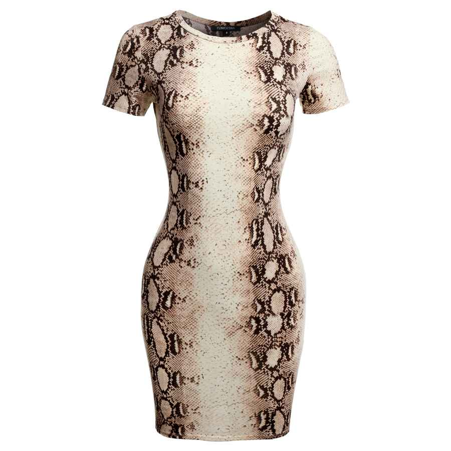 Womens Casual Dresses Women's Casucal Printed Sexy Body-Con Mini Dress - Made In Usa