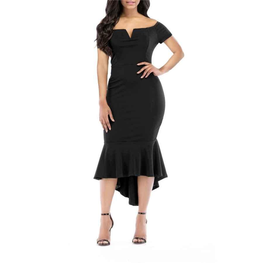 Cocktail Dresses Onlypuff Fishtail Dresses For Women Midi Bodycon Dress