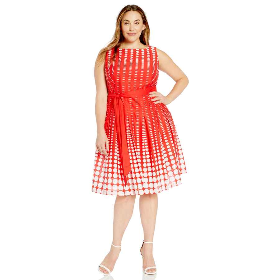 Womens Casual Dresses Anne Klein Women's Size Plus Cotton Fit & Flare Dress