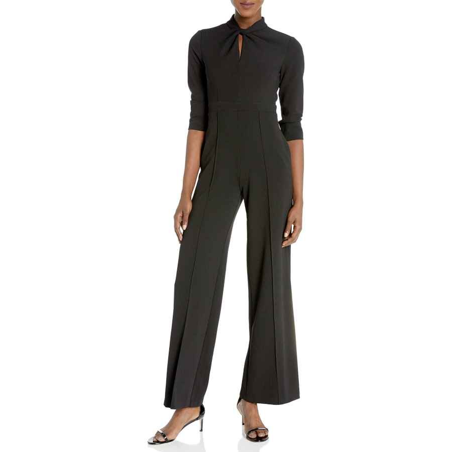 Womens Casual Dresses Donna Morgan Women's Stretch Crepe Twisted Neckline Jumpsuit