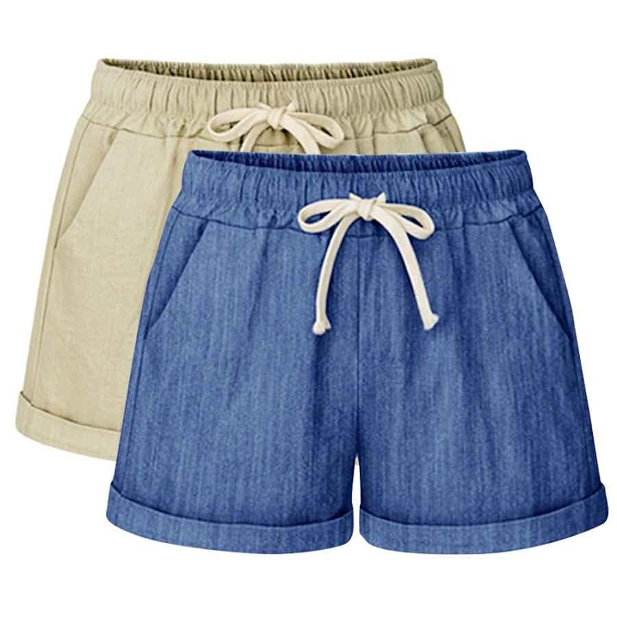 Pants Casual Women's Drawstring Elastic Waist Casual Comfy Cotton Linen