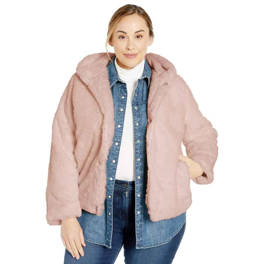 Pink Platinum Women's Faux Rabbit Fur Jacket