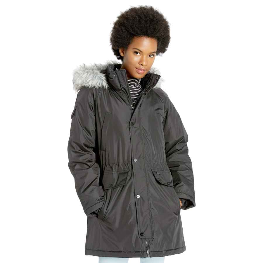 Skechers Women's Warm Winter Coat With Faux-Trimmed Hood