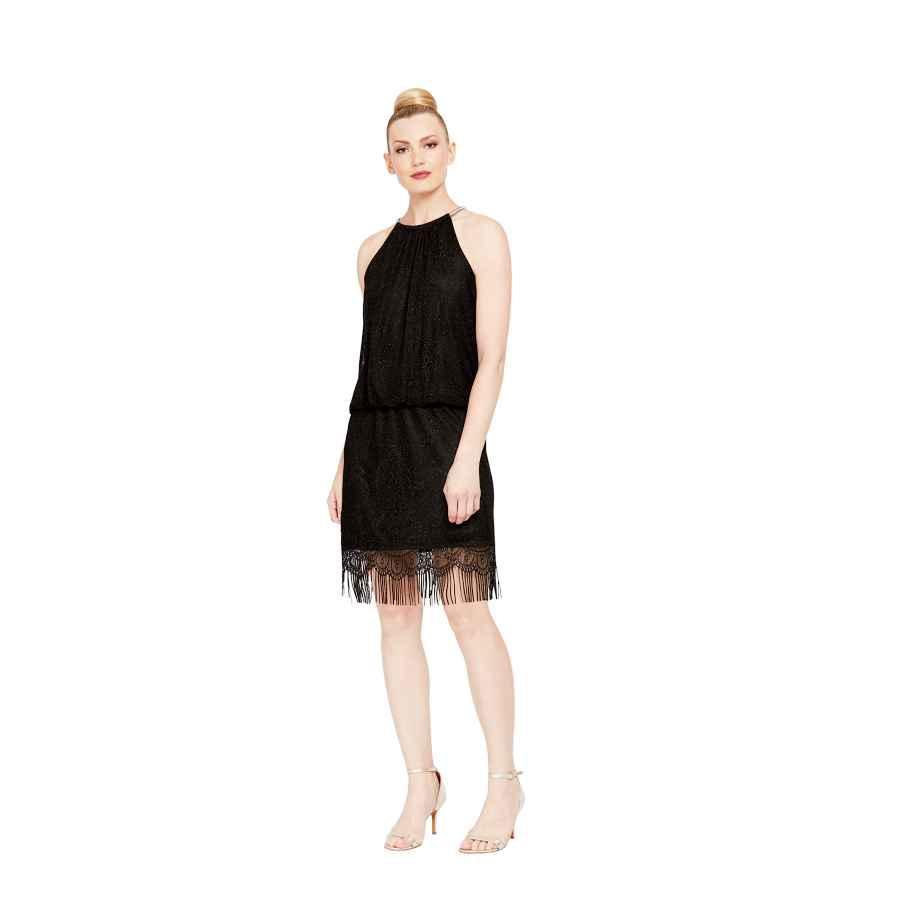 Womens Casual Dresses S.L. Fashions Women's Blouson Halter Crochet Dress