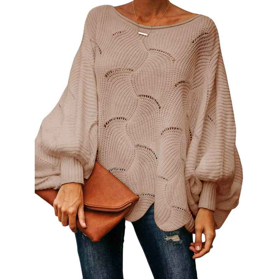 Pullower Ybenlow Womens Off Shoulder Sweaters Batwing Sleeve Loose Overiszed