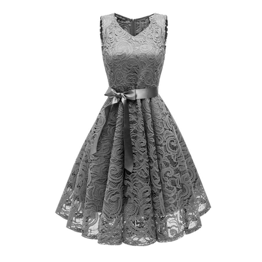 Womens Casual Dresses Dolecci Women's Off Lace Cocktail Dress Half Boat Neck Evening Wedding Dress
