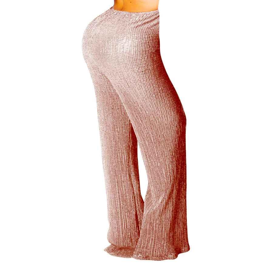 Pants Casual Women's Sexy Sequin Pants High Waist Wide Leg