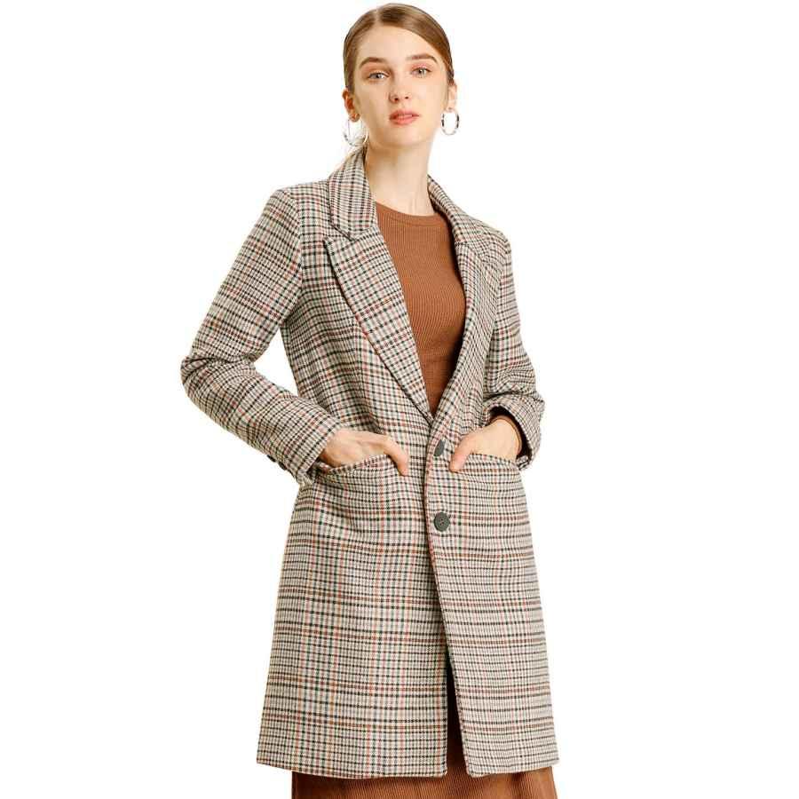 Vovotrade Womens Fashion Winter Long Woolen Trench Coat Solid Overcoat Casual Parka Outwear Slim Fit Cardigan Windbreaker