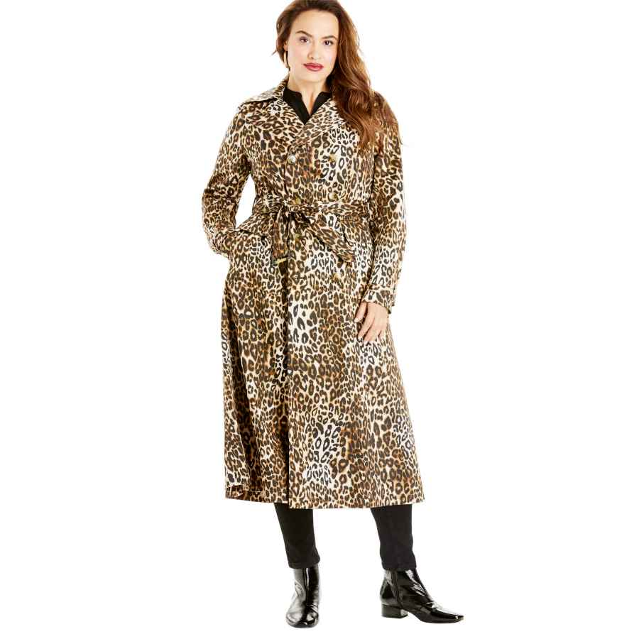 Roamans Women's Plus Size Essential Trench Coat