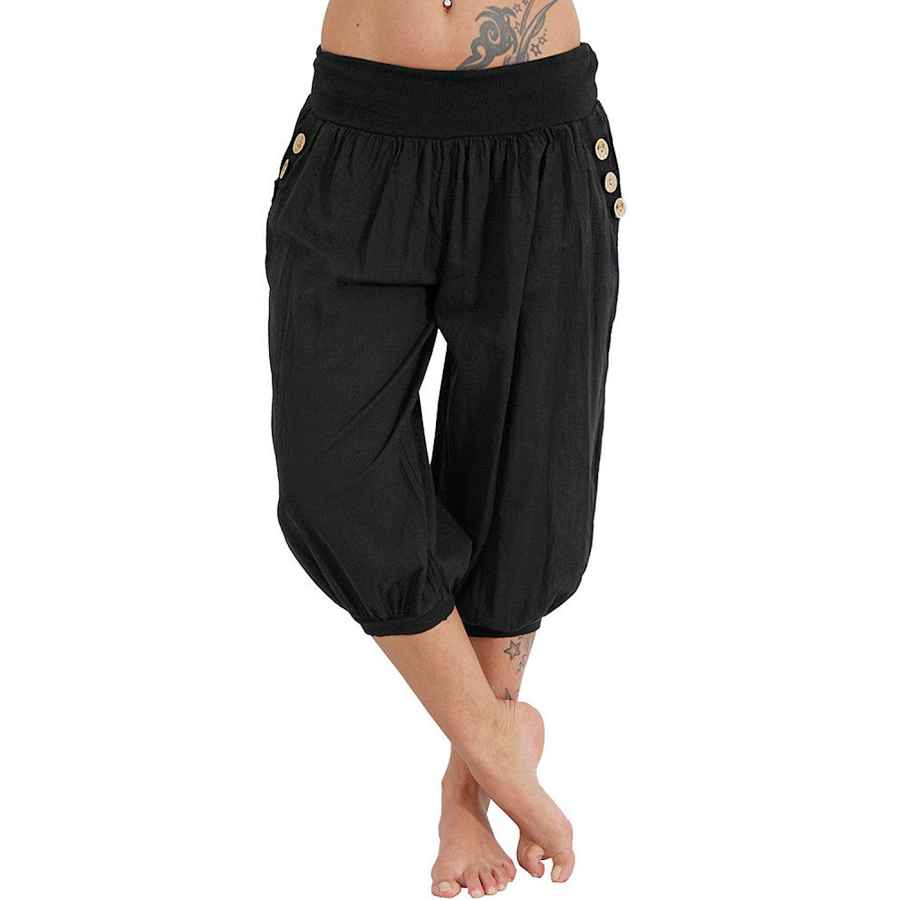Pants Casual Women's Plus Size Harem Pants Aladdin Linen Loose