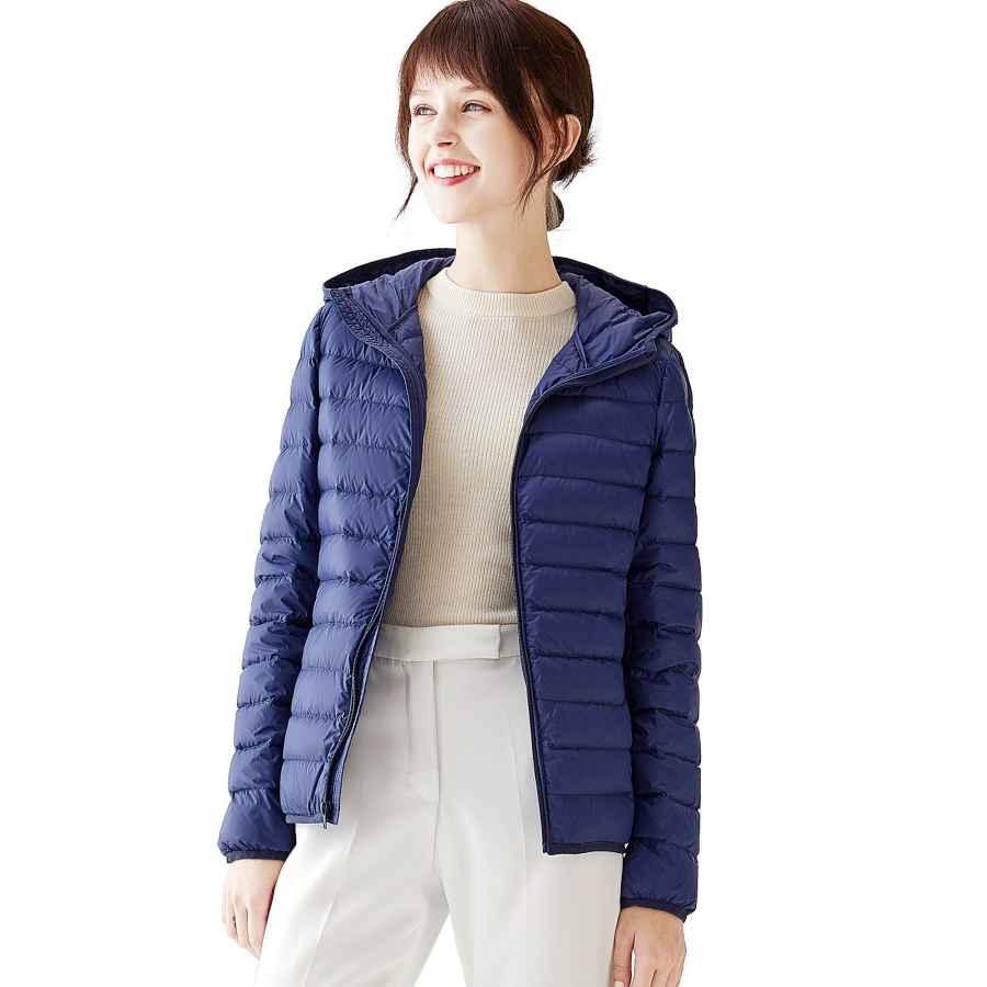 Vutolee Women Lightweight Down Jacket Hooded - Packable Ultralight Down Hooded Coat Breathable Warm Winter Outwear Coat L02