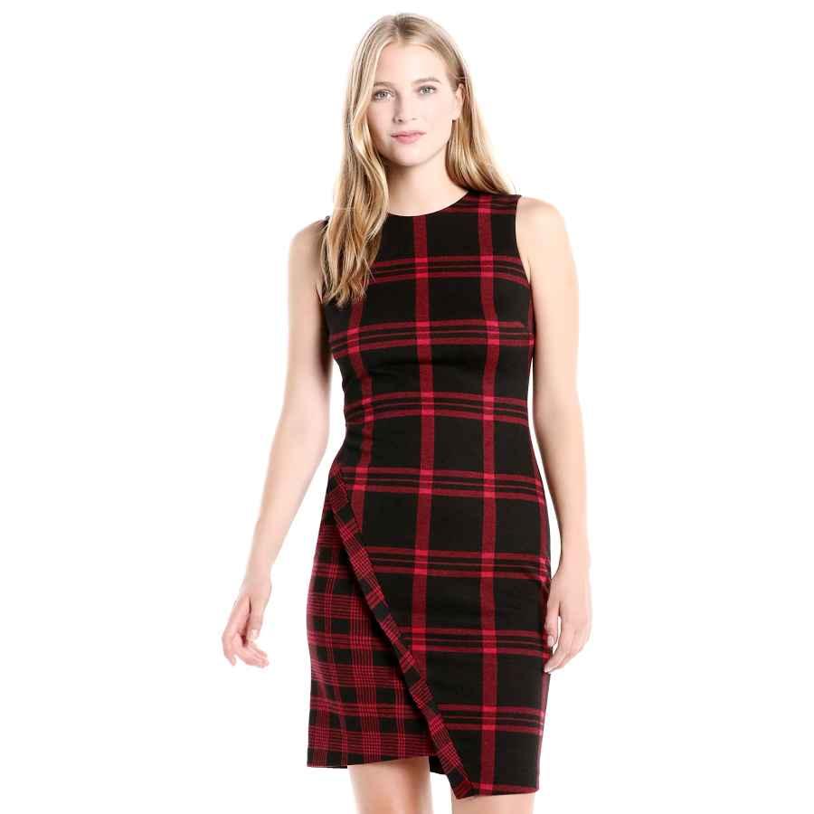 Womens Casual Dresses Tommy Hilfiger Women's Asymmetrical Hem Sheath Dress