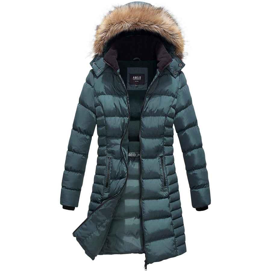 Freeprance Winter Coats For Women Parka Jacket Coat With Faux Fur Lining Hood Black
