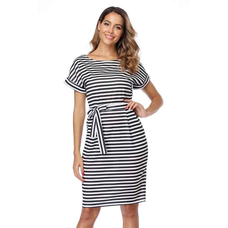 Womens Casual Dresses Fitglam Women's Stripe Dresses