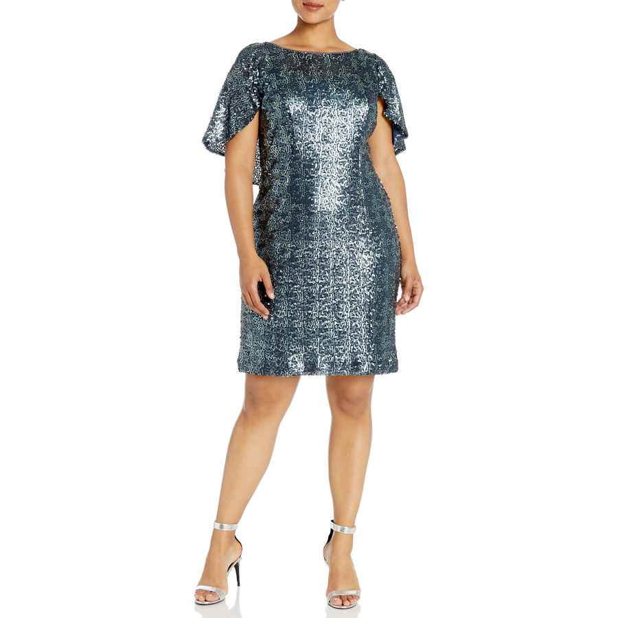 Womens Casual Dresses Alex Evenings Women's Plus Size Short Sequin Dress