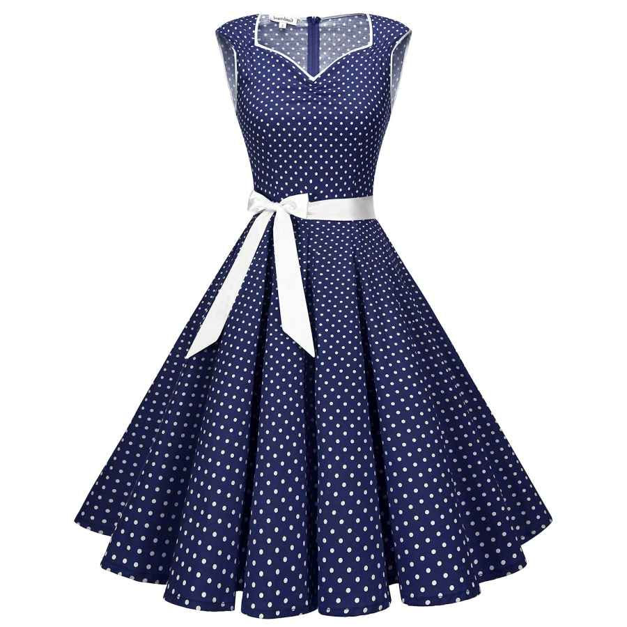 Womens Casual Dresses Gardenwed 1950s Vintage Dresses Cocktail Dresses For Women Retro Rockabilly Party Swing Dress