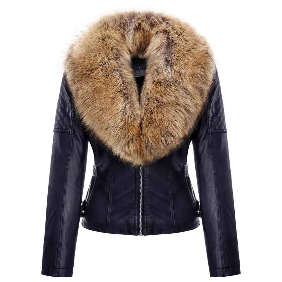 Geschallino Women's Pu Leather Jacket(2 Colors)