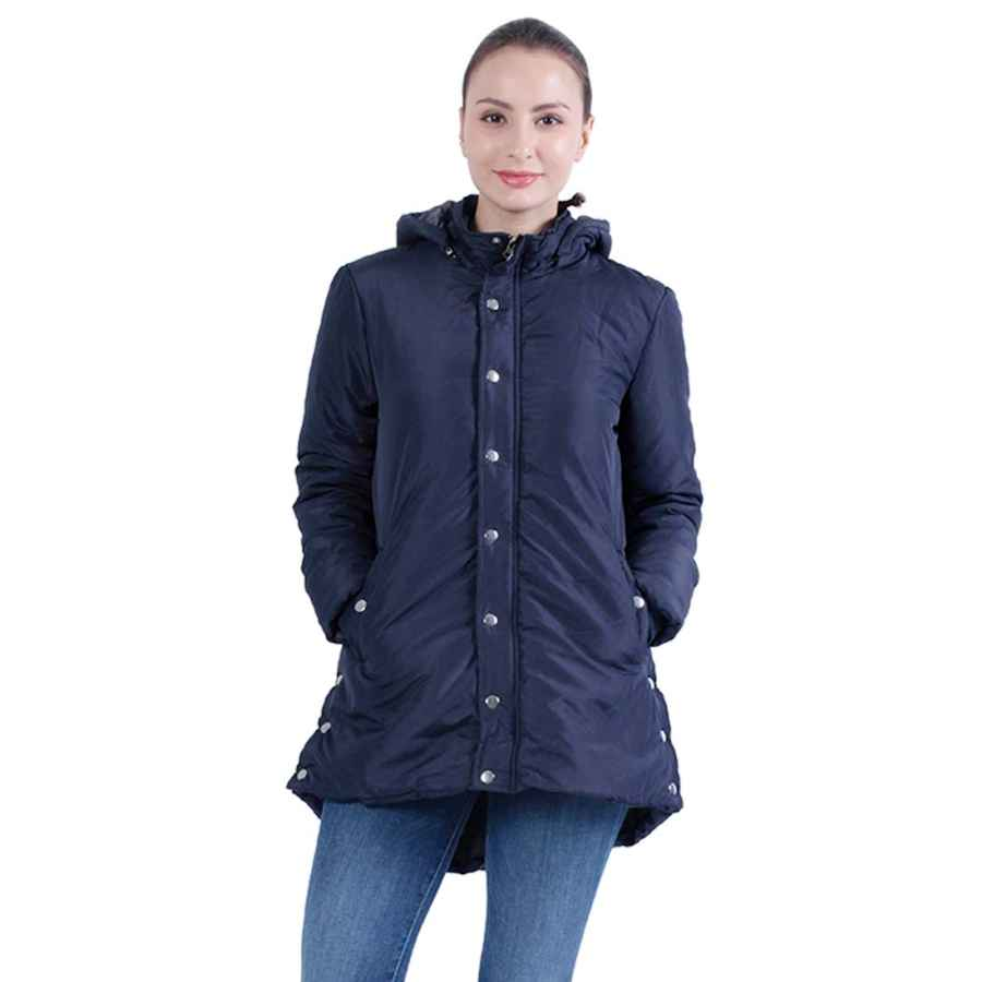 Plusfeel Womens Outdoor Sports Military Hooded Windproof Parka Anroaks Mid-Length Jacket Coats
