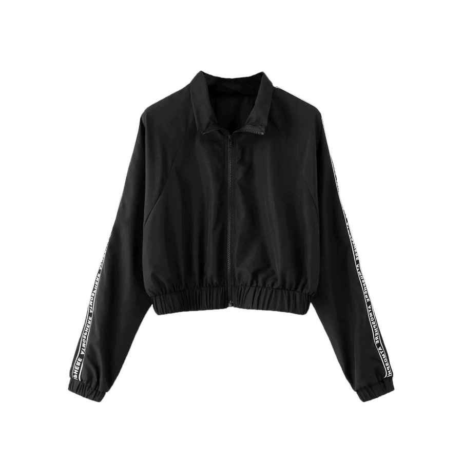 Milumia Women's Sports Active Drawstring Hooded Zip Up Lightweight Windproof Crop Top Windbreaker Jacket