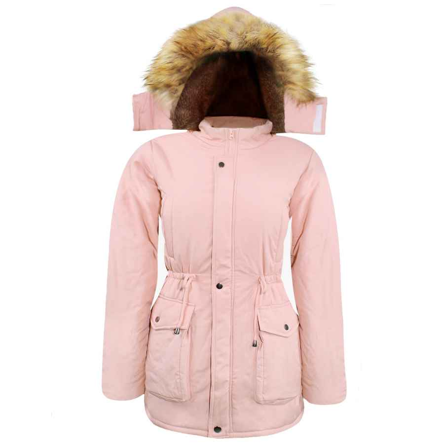 Ilovesia Women's Hooded Warm Coats Thickened Fuzzy Lining Parkas