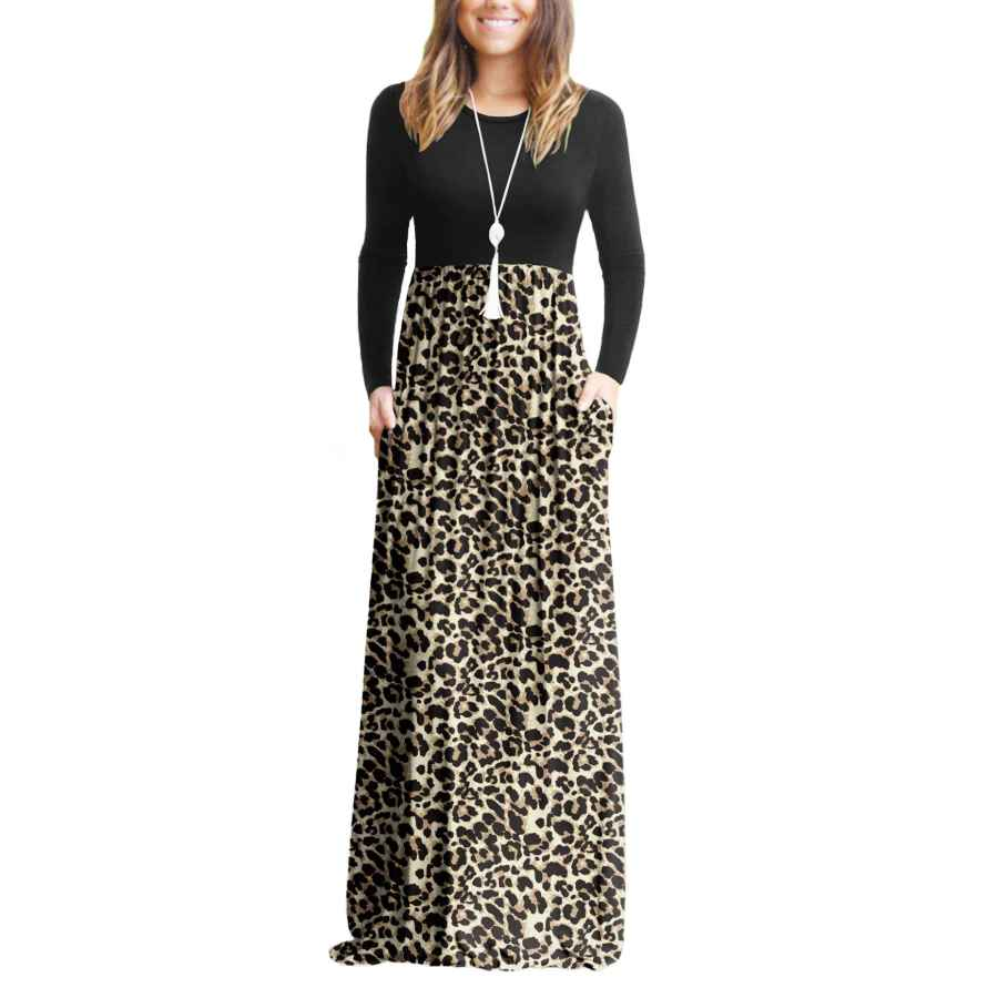 Womens Casual Dresses Viishow Women's Long Sleeve Empire Waist Maxi Dresses Long Dresses With Pockets