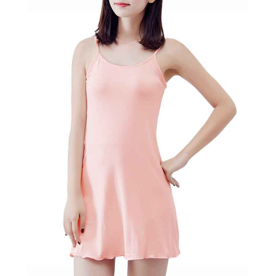 Womens Casual Dresses Mmissy Women Long Adjustable Spaghetti Strap Full Cami Slip Camisole Under Dress Liner Nightgown