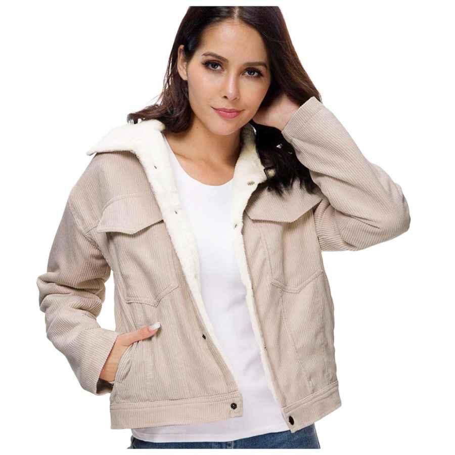 Trendinao Winter Women's Corduroy Jackets
