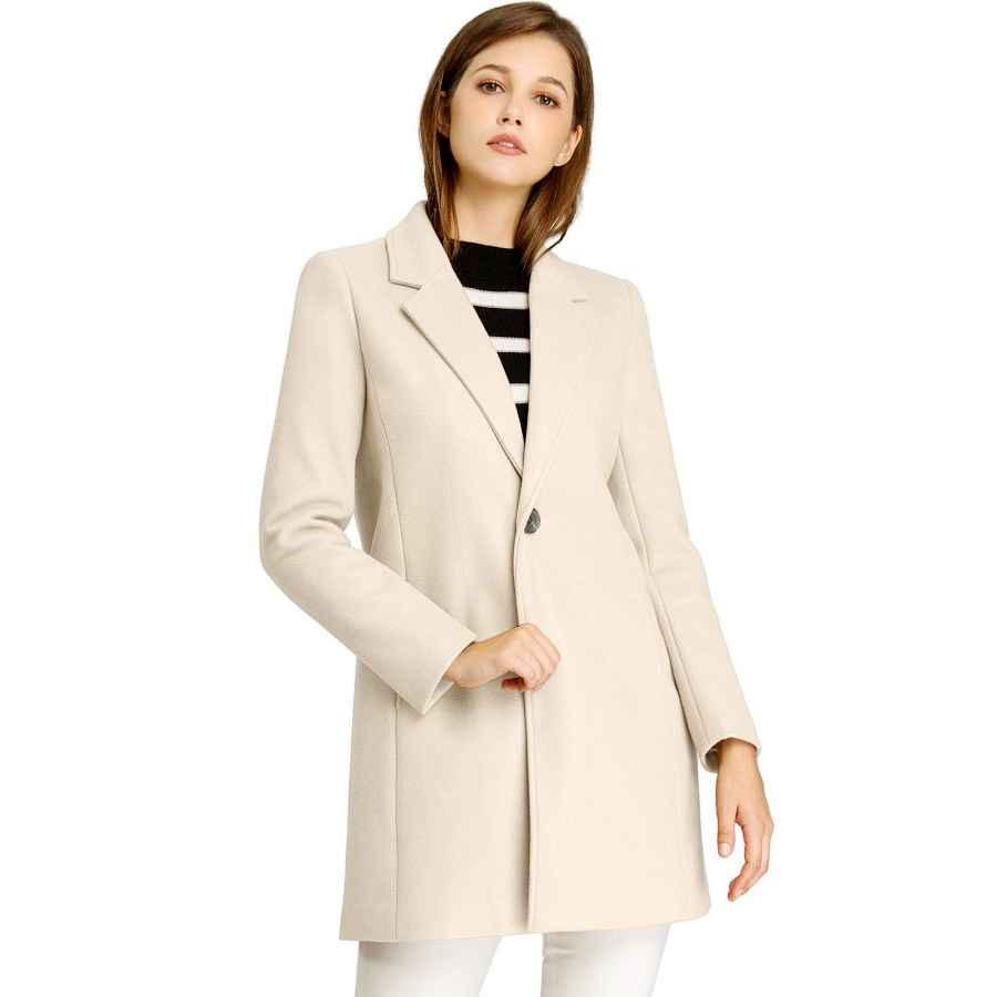 Yiq8 Women's Winter Coat Casual Lapel Fleece Fuzzy Faux Warm Plus Size Outwear Jackets