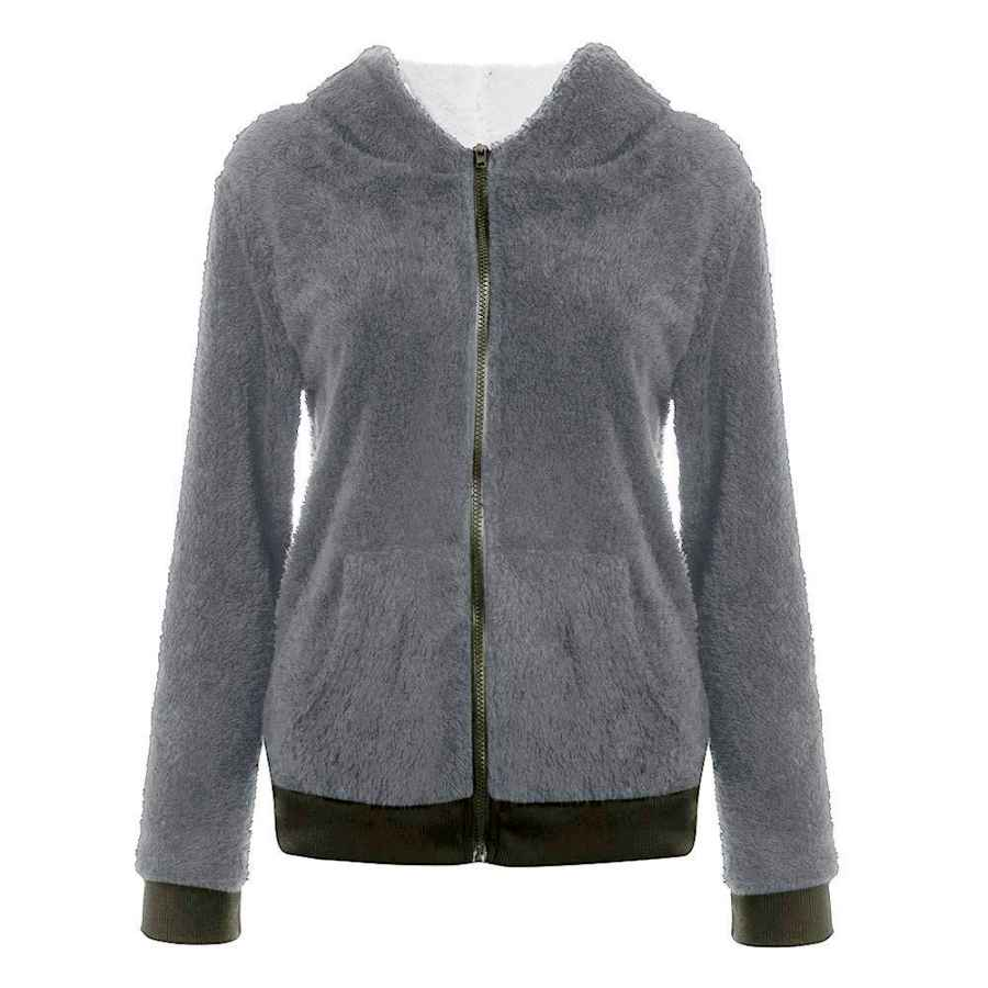 Women Sherpa Sweater Coat